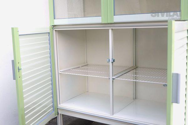 ตู้ครัวตู้กับข้าว metalite ด้านใน