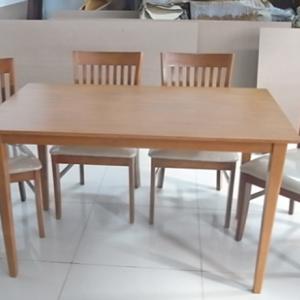 ชุดโต๊ะกินข้าว ไม้ยางประสานขาโมเดริ